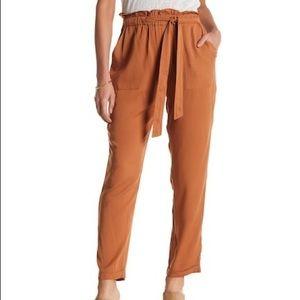 Sienna Sky Rust Orange Paperbag Cuffed Pants S